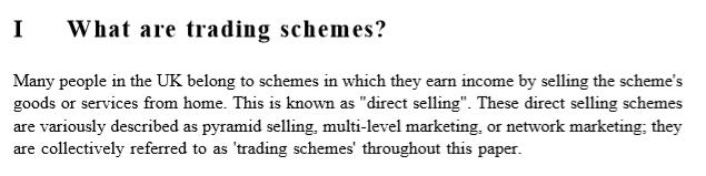 trading schemes